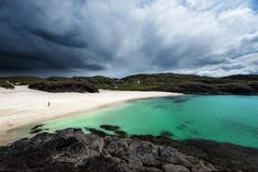 Clachtoll Beach. Lochinver, Scotland.  Beautiful place but I got stung by a jellyfish here!
