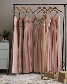 In a Wedding This Year? Here Are 5 Things You Need to Know Bridesmaid Dresses blush bridesmaid dresses Gold Bridesmaids, Mismatched Bridesmaid Dresses, Wedding Bridesmaid Dresses, Classic Wedding Hair, Bhldn Wedding, Bridesmaid Inspiration, Dream Wedding, Summer Wedding, Yellow Wedding