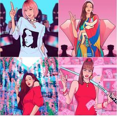 Blackpinkart blackpink blackpink is the revolution #lisa #jisoo #rose #jennie Bff Drawings, Blackpink Wallpaper, Anime Art Girl, Kpop Girl Groups, Kpop Girls, Black Pink Kpop, Cute Art, Pop Art, Kpopper