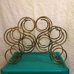 Sometimes you just need a fresh coat of paint and the world seems a little brighter! The beauty of bronze - enjoy this sturdy wrought iron wine rack now featured in a gold/bronze rub. Freshen up your bar with this fabulous wine rack!
