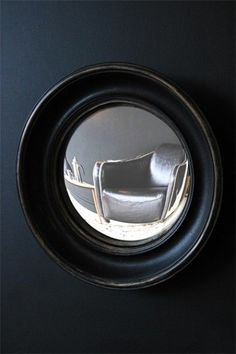 Little Aged Black Convex Mirror Rockett St George Convex Mirror, Round Wall Mirror, Mirror Mirror, Rocket St George, Funky Bathroom, Bathroom Mirrors, Retro, Unique Mirrors, Kitchen Art