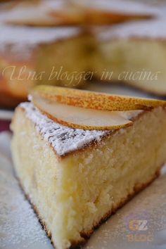 torta in padella con lo yogurt alle pere.