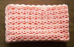 V-stitch and xlarge shells afghan