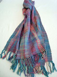 Handwoven  Multicolour  Silk Scarf /  Shawl / Wrap by PenelopeNow, $190.00