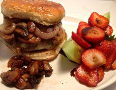 Basil Mushroom Burgers   #burgers