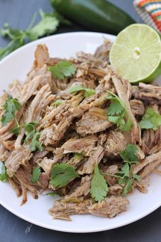 The easiest and most flavorful whole30 slow cooker pork carnitas ever! A cinch to prep and makes great leftovers too!