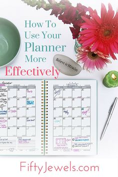 P - How To Use Your Planner Effecitively