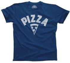 Men's Team Pizza T-Shirt Vintage Retro Athletic Logo Inspired