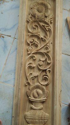 Single Door Design, Wooden Main Door Design, Wood Bed Design, Wooden Wall Art Panels, Panel Wall Art, Wood Carving Designs, Wood Carving Art, Modern Wooden Doors, Flower Bed Designs