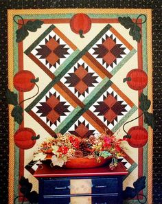 Thimbleberries HARVEST BOUNTY Quilt Pattern Lynette Jensen Fall Autumn Pumpkins RARE!