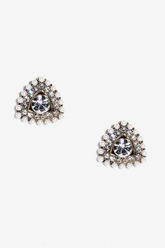 Queen of the Castle Pearl and Rhinestone Earrings
