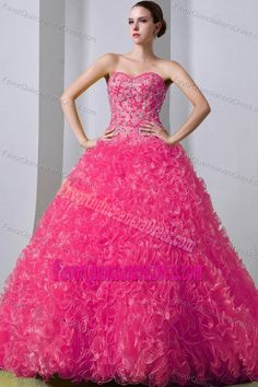 dde715f6839 Buy red organza ruffled sweetheart quinceanera dress with brush train from  coral red quinceanera dresses collection