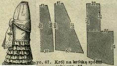 Mody Paryzkie 1879.: Foundation skirt pattern.