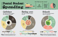 Dental Student Spending Infographic