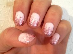Glitter tipped nails!