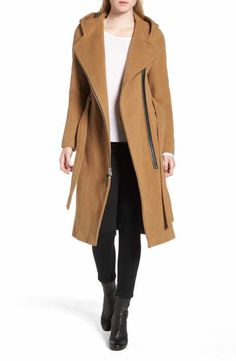 52128fa9b9 Mackage Boiled Wool Blend Peacoat Wool Blend, What To Wear, Cashmere, Coats  For