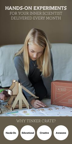 Is your child a budding creator? Discover Tinker Crate's seriously fun experiments like this Trebuchet that your child will love. Delivered directly to your door every month, Tinker Crate helps kids build creative problem-solving skills - and have a lot of fun! Subscribe to Tinker Crate today and take 30% off your first month with code PINTEREST30
