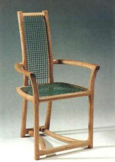 Armchair in olive ash and polyester rope   #cnc #chairs   http://cnc.gallery/