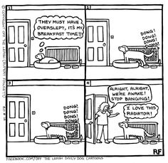 Good Morning #dogs #dogcartoons #iloveofftheleash