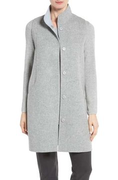 Eileen Fisher Double Face Brushed Wool Long Vest