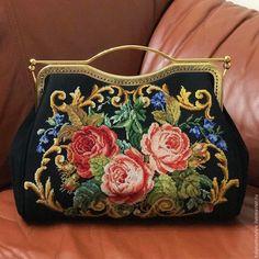 """Купить Сумка-саквояж """"Моё золотце"""" - черная сумка, женская сумка, женская сумочка"""