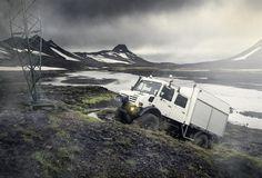 Der Unimog U 4000 isländischen Hochland