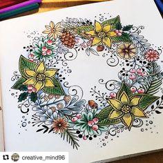 #Repost @creative_mind96 with @repostapp ・・・ Mein erster Post hier. Ich hoffe euch wird meine Seite gefallen. ☺ Da ich im Moment noch nichts neues weiter habe, was ich euch an ausgemalten Bildern zeigen könnte, möchte ich euch ein paar vergangene zeigen.  Momentan wird aber fleißig ausgemalt und in meinem Kopf wird gearbeitet, für viele weitere kreative ldeen, in Sachen eigenes Fotobuch erstellen usw. ☺ #meinwinterspaziergang @rita.berman #coloringbook #malenmachtglücklich