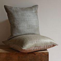 Metallic Brush Pillow Cover #WestElm