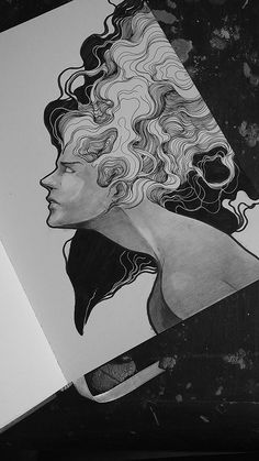Art Inspirations - I love how the hair is drawn in this work, I want to try it out