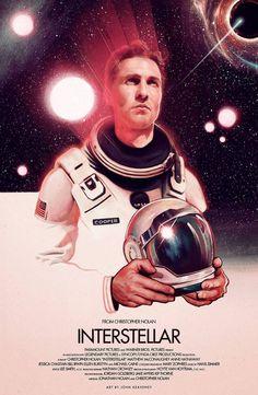 Interstellar - movie poster - John Keaveney