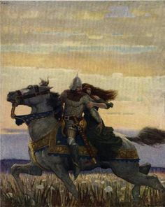 N.C. Wyeth - Launcelot and Guenevere, 1922