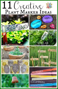Plant Marker Ideas | Want to know whats what in your garden? Label your plants using these easy to make ideas.  I used the 2nd one last year (free, super easy to make and looks cute in the garden)!