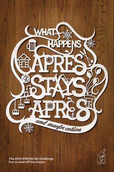Allison Chambers Lettering & Design / on Design Work Life - PAPERCUT handlettering, best of both worlds...