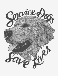 The impact that a service dog has on a family in need is invaluable. This illustration of a dog's portrait is to show the personality that is brought into our homes when we open our families to these lifesaving family members.