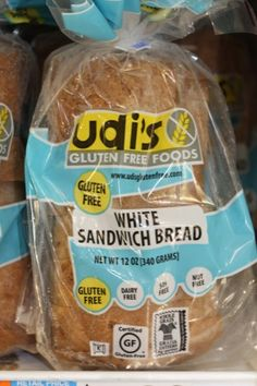 Dietitian-Approved Low-FODMAP Great tasting Gluten Free Bread too. YES ITS SOY FREE! that is the hardest part about this diet hitting the gluten free isles in stores to then narrow your selection base to a shelf. :) IM SO excited i've heard UDI's t Sin Gluten, Gluten Free Diet, Gluten Free Bread Brands, Fodmap Recipes, Diet Recipes, Fodmap Foods, Ibs Diet, Fructose Free, Wheat Free Recipes