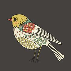 A roundup of trendy and beautiful free art printables for gallery walls. From patterns to calligraphy to modern stock pics, we've got your hip prints here. Bird Doodle, Doodle Art, Bird Quilt, Bird Artwork, Guache, Bird Drawings, Bird Pictures, Naive Art, Oeuvre D'art