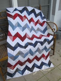 Chevron quilt. Happy Cottage Quilter. Love the pattern, maybe different colors...