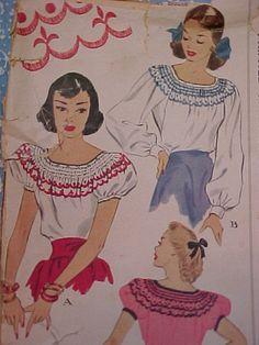 1947 McCalls Pattern no 1386 by playinjayne on Etsy, $6.50