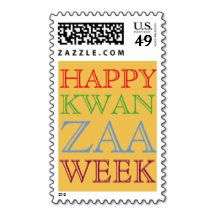Happy Kwanzaa Postage Stamps
