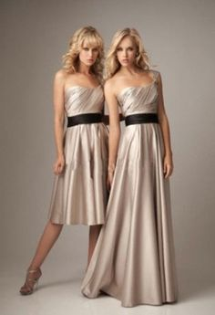 26c968080b5 A-line Satin Floor-length One-shoulder Bridesmaid Dress (Left) - Didobridal