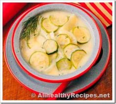 Zucchini Potato Soup - This is a pureed soup with onions, potatoes and zucchini cooked in chicken broth, seasoned with dill, salt and pepper. This is a delicious and healthy soup.