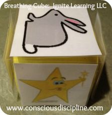 """Make your own """"rock and roll"""" cubes for active calming activities, I Love You Rituals, and so on. Thanks to Ignite Learning with Conscious Discipline LLC #heartcd"""