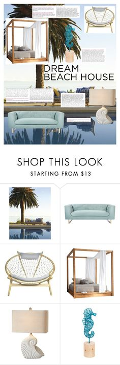 """""""Beach getaway"""" by lottie-gayne ❤ liked on Polyvore featuring interior, interiors, interior design, home, home decor, interior decorating, Nimbus, MASH Studios and Midwest of Cannon Falls"""