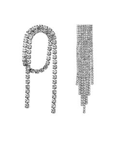 Mismatched Design With Rhinestone Dangler Earrings – Jumkey Fashion Jewellery