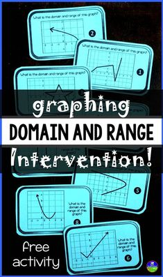 Domain and range intervention! 4 functions algebra, math и a Algebra Lessons, Algebra Activities, Maths Algebra, Math Lesson Plans, Math Resources, Science Lessons, Mathematics Games, Math Fractions, Numeracy