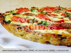 Zucchini Crust Tomato Basil Tart http://www.foodrecipes360.com/zucchini-crust-tomato-basil-tart/