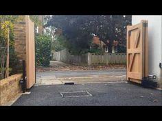 Wooden Bi-Folding Gates - YouTube