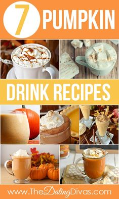 The Ultimate Pumpkin Recipe Round-Up- lots of yummy fall pumpkin drink recipes. Pumpkin Drinks, Pumpkin Recipes, Fall Recipes, Drink Recipes, Alcohol Recipes, Yummy Drinks, Yummy Food, Healthy Drinks, Yummy Treats