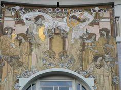 La maison personnelle de Paul Cauchie (1905), aujourd'hui reconnue comme l'une des œuvres majeures de l'Art Nouveau belge