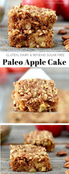 Paleo Apple Cake Recipe! Easy, healthy and full of all your favorite fall…
